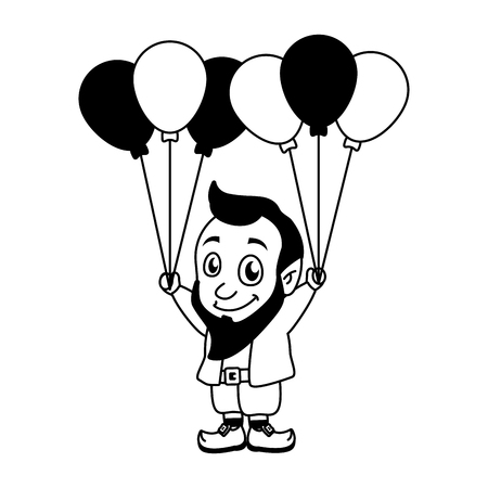 leprechaun with balloons happy st patricks day vector illustration Standard-Bild - 125978990