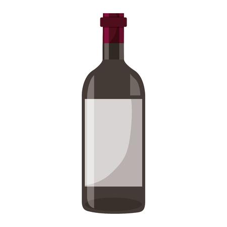 tappo di bottiglia di vino su sfondo bianco illustrazione vettoriale Vettoriali