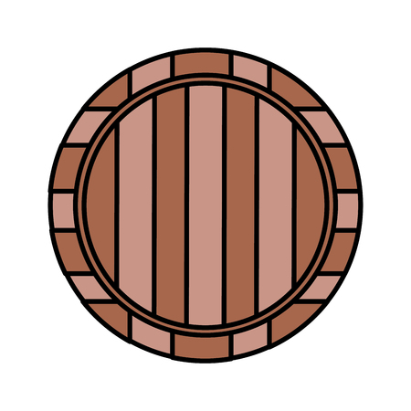 wooden wine barrel on white background vector illustration Archivio Fotografico - 125979042