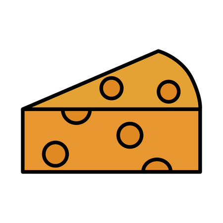 fresh slice cheese on white background vector illustration