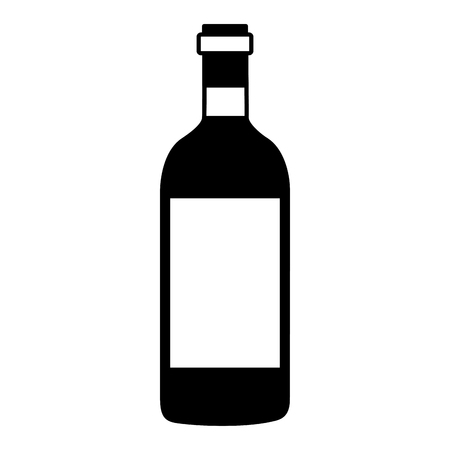 wine bottle cork on white background vector illustration