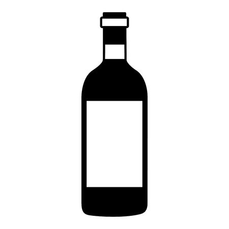 wine bottle cork on white background vector illustration