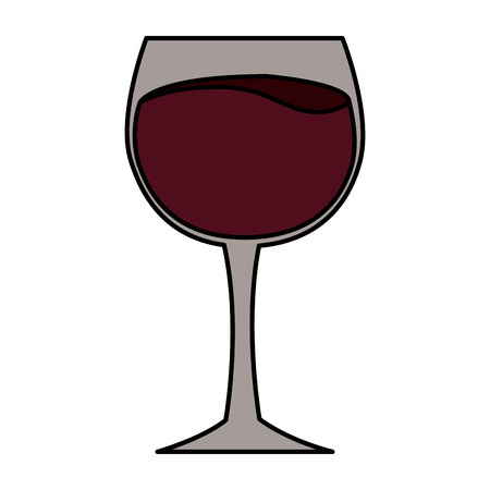wine glass cup on white background vector illustration