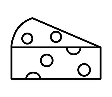 fresh slice cheese on white background vector illustration