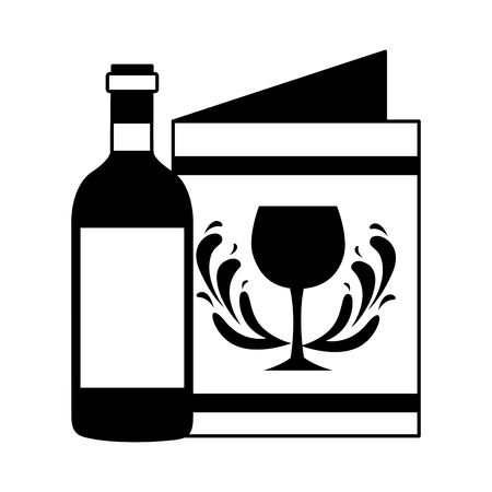 wine bottle restaurant menu beverages vector illustration Stock Vector - 115689458