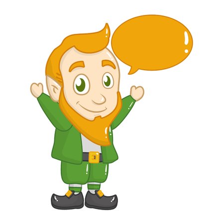 leprechaun speech bubble happy st patricks day vector illustration