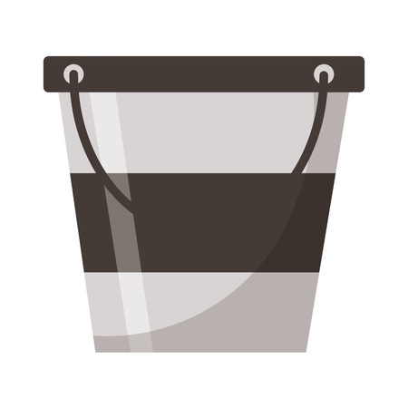 ice bucket utensil on white background vector illustration Stock Illustratie