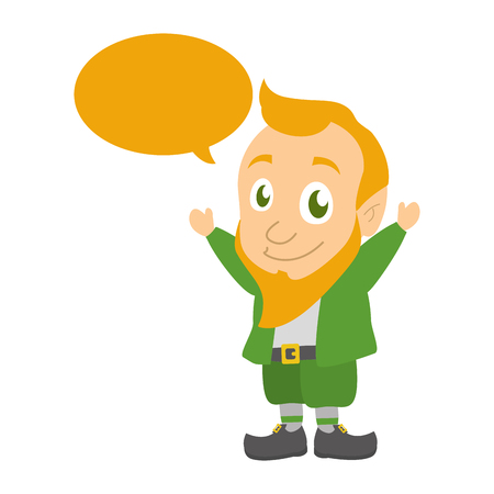 leprechaun speech bubble happy st patricks day vector illustration