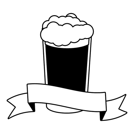cold beer foam on white background vector illustration