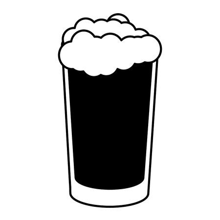 cold beer foam on white background vector illustration Vettoriali