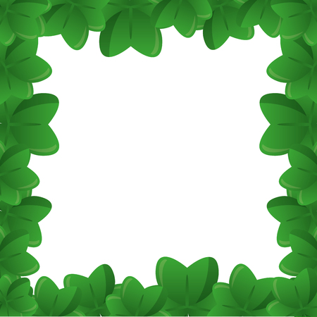 green frame clovers happy st patricks day vector illustration Illustration