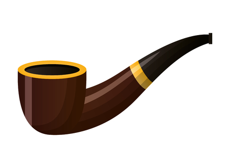 tobacco pipe on white background vector illustration