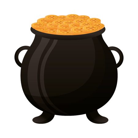 cauldron coins happy st patricks day vector illustration Illustration