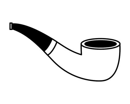 tobacco pipe on white background vector illustration Reklamní fotografie - 125979359