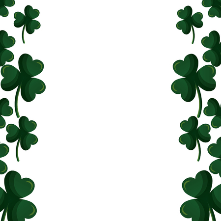 border green clovers happy st patricks day vector illustration