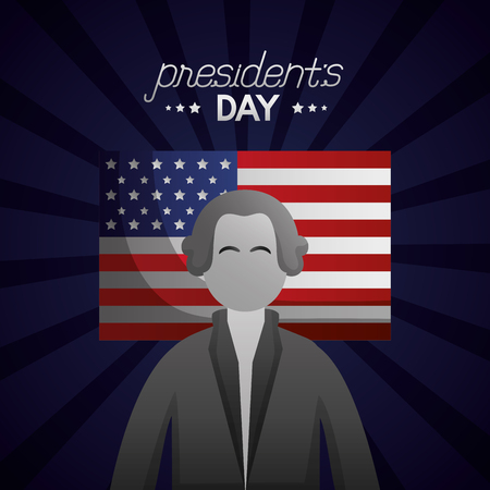 american flag happy presidents day stripes background vector illustration