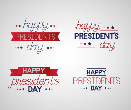 ribbons happy presidents day decoration background vector illustration Ilustração