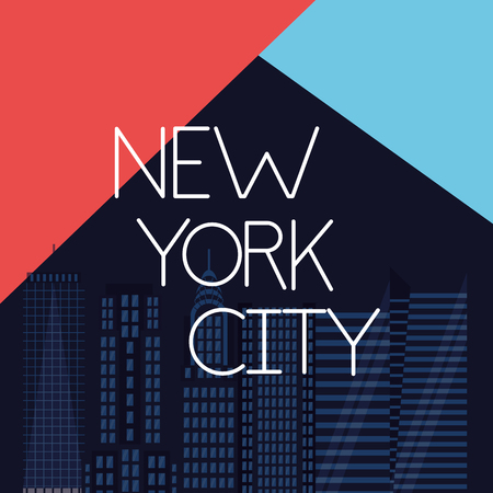 new york city high buildings decoration vector illustration