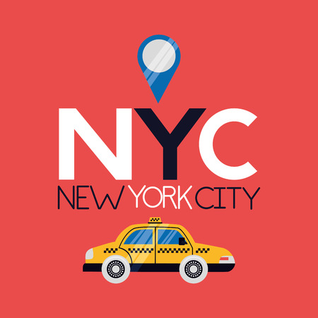 location sign taxi direction new york city vector illustration