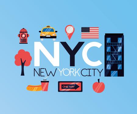 new york city emblem icons vector illustration Иллюстрация