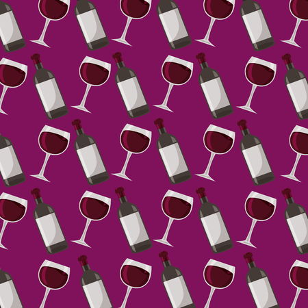 wine bottle and glass cup background vector illustration 向量圖像