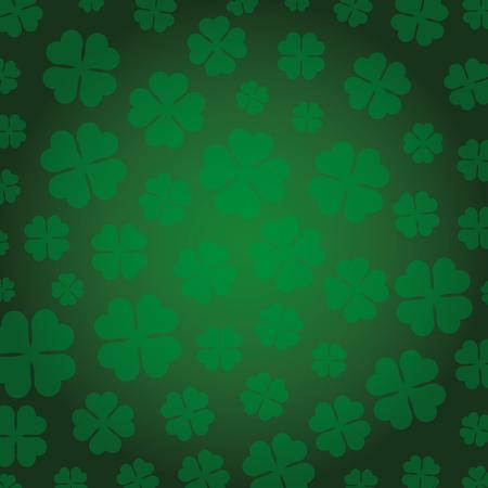 st patrick clovers leafs pattern vector illustration design