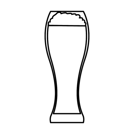 glass with beverage icon vector illustration design