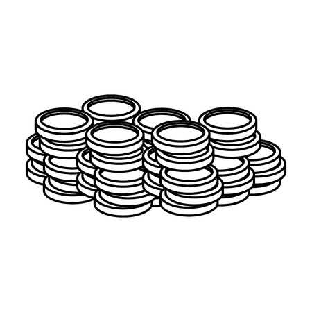 pile coins money icon vector illustration design 版權商用圖片 - 125981445