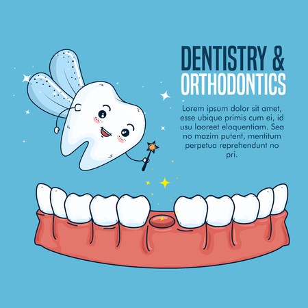 tooth dairy and dentistry hygiene treatment vector illustration