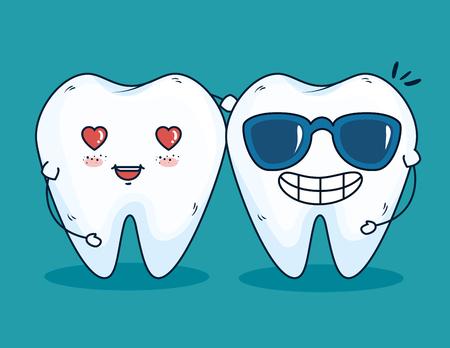 traitement de santé des dents avec illustration vectorielle de médecine professionnelle