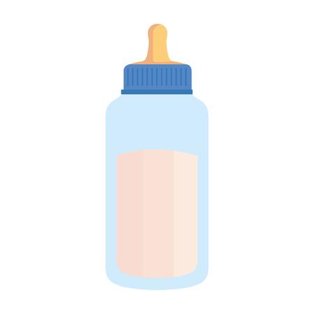 milk bottle baby icon vector illustration design Standard-Bild - 125896254
