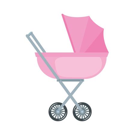Babywagen lokalisierte Symbolvektorillustrationsentwurf