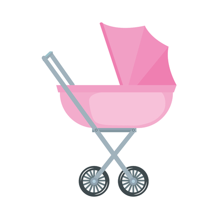 baby cart isolated icon vector illustration design Illustration