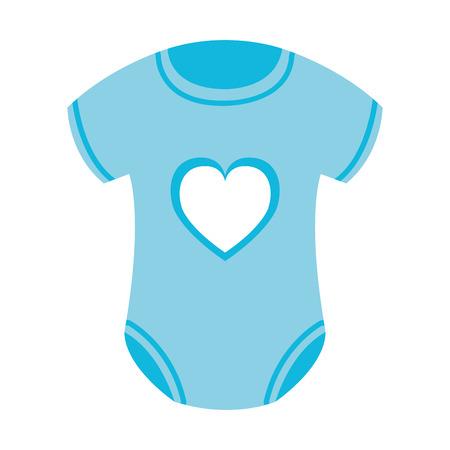 cute baby clothes icon vector illustration design