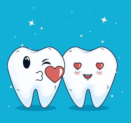 teeth helathcare with hygiene medicine treatment vector illustration