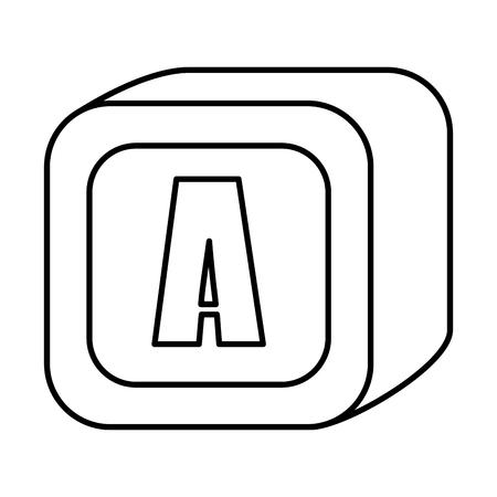 alphabet block toy icon vector illustration design Ilustração