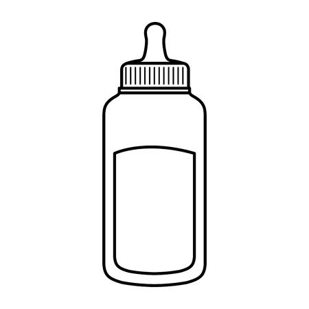 milk bottle baby icon vector illustration design Standard-Bild - 125896296