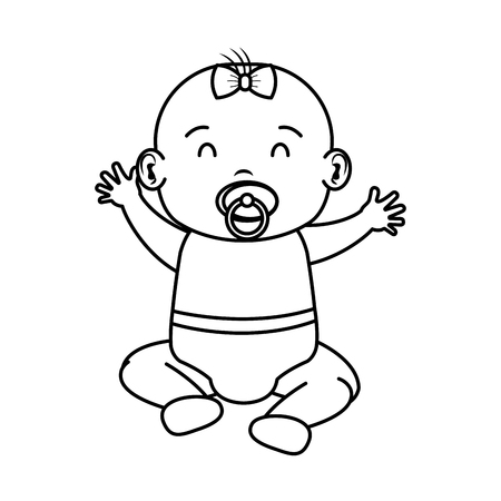cute and little baby character vector illustration design Standard-Bild - 115783956