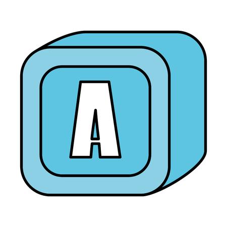 alphabet block toy icon vector illustration design Banque d'images - 125896368