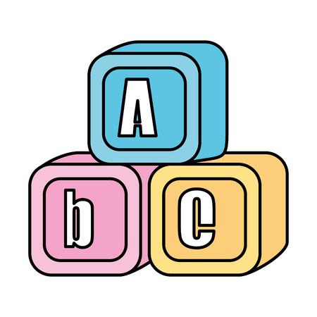 alphabet blocks toys icons vector illustration design Ilustração