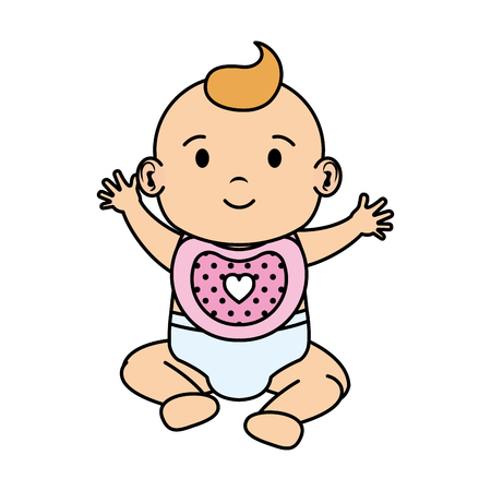 cute and little baby character vector illustration design Ilustração