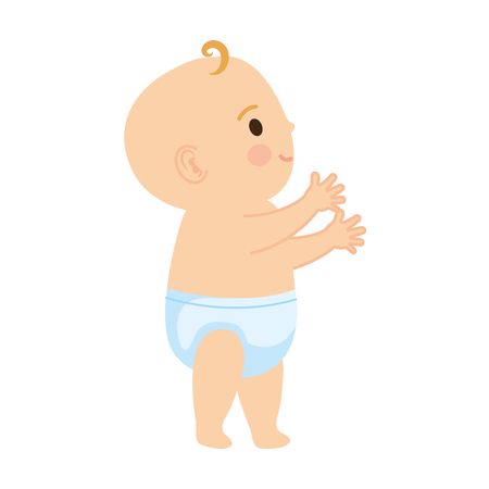 cute and little boy baby character vector illustration design 일러스트