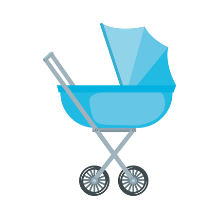 Diseño de ilustración de vector de icono de carro de bebé aislado Ilustración de vector