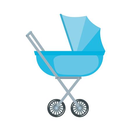 baby cart isolated icon vector illustration design Illustration