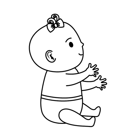 cute and little baby character vector illustration design Standard-Bild - 125896449