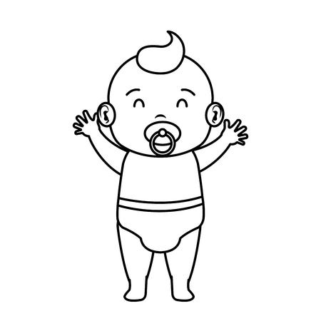 cute and little boy baby character vector illustration design Ilustração