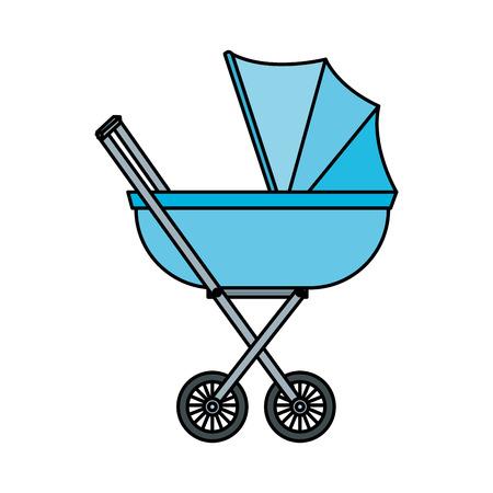 panier bébé icône isolé illustration vectorielle conception