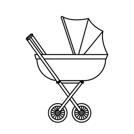 baby cart isolated icon vector illustration design Ilustrace