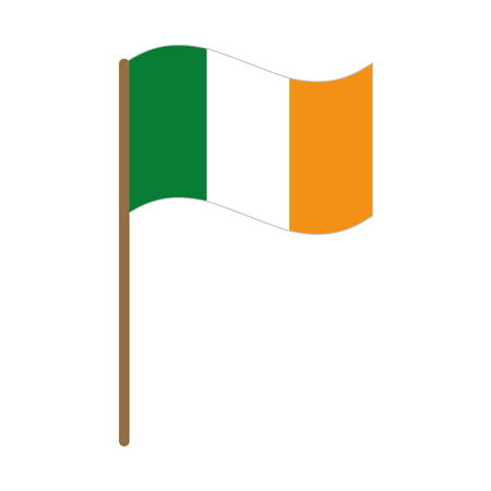 ireland flag isolated icon vector illustration design