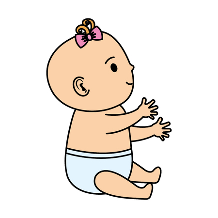 cute and little baby character vector illustration design Illustration